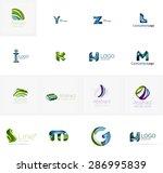 set of new universal company... | Shutterstock .eps vector #286995839