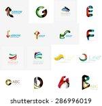 set of new universal company... | Shutterstock .eps vector #286996019