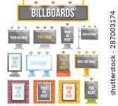 trendy flat billboards  outdoor ... | Shutterstock .eps vector #287003174