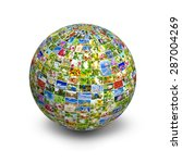 image of the globe made up of... | Shutterstock . vector #287004269