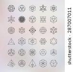 sacred geometry. alchemy ... | Shutterstock .eps vector #287007011