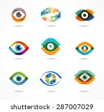 set of colorful eye icons  | Shutterstock .eps vector #287007029