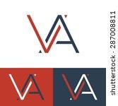 letter v and a logo template.... | Shutterstock .eps vector #287008811