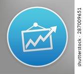 graph design icon on blue...
