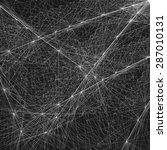 wireframe mesh polygonal... | Shutterstock .eps vector #287010131