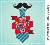 happy father's day card ... | Shutterstock .eps vector #287026391
