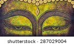 buddha acrylic painting on... | Shutterstock . vector #287029004