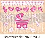collection stroller toys   Shutterstock .eps vector #287029331
