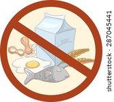illustration of food that...   Shutterstock .eps vector #287045441