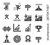 success icon set | Shutterstock .eps vector #287047487