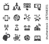 technology icon set | Shutterstock .eps vector #287048351