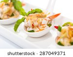 Spicy Salad Shrimp With Lemon...
