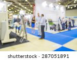 trade show people  intentionaly ... | Shutterstock . vector #287051891