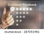 business hand clicking customer ... | Shutterstock . vector #287051981