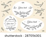 elements for cards with images...   Shutterstock .eps vector #287056301