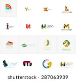 set of new universal company... | Shutterstock . vector #287063939