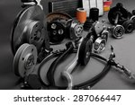 new car wheels and filters on a ... | Shutterstock . vector #287066447
