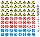 the big safety and work sign... | Shutterstock .eps vector #28707019