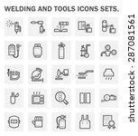 welding work and welding tools... | Shutterstock .eps vector #287081561