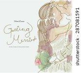 hand drawn wedding series... | Shutterstock .eps vector #287081591