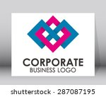 corporate group partnership... | Shutterstock .eps vector #287087195