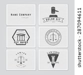 lawyer services. the judge  the ...   Shutterstock .eps vector #287094611