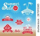 set of summer sale promotion... | Shutterstock .eps vector #287095385