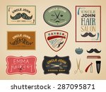 vintage color tone barber shop... | Shutterstock .eps vector #287095871