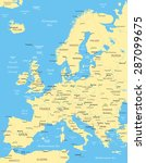 europe map   highly detailed... | Shutterstock .eps vector #287099675