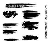 vector set of grunge brush... | Shutterstock .eps vector #287101991
