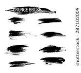 vector set of grunge brush... | Shutterstock .eps vector #287102009