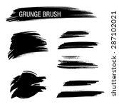 vector set of grunge brush... | Shutterstock .eps vector #287102021