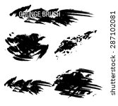 vector set of grunge brush... | Shutterstock .eps vector #287102081