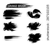 vector set of grunge brush...   Shutterstock .eps vector #287102105