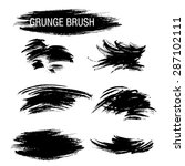 vector set of grunge brush... | Shutterstock .eps vector #287102111