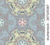 seamless pattern ethnic style.... | Shutterstock .eps vector #287105387