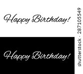 happy birthday banner on a... | Shutterstock .eps vector #287105549