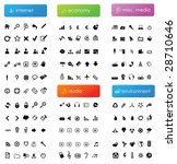 150 vector icons divided into...