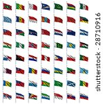world flags set 3 of 4   m to s ... | Shutterstock . vector #28710916