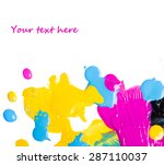 drops of ink on white background   Shutterstock . vector #287110037