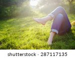 relaxing in a meadow in the... | Shutterstock . vector #287117135