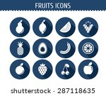 vector collection of fruits... | Shutterstock .eps vector #287118635
