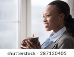 candid image of a businesswoman ... | Shutterstock . vector #287120405