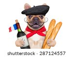 French Bulldog With Red Wine...