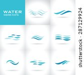 Set Of Water Waves Icons ...