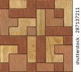 3d wooden pattern  seamless | Shutterstock . vector #287137211
