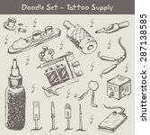 set of professional tattoo... | Shutterstock .eps vector #287138585