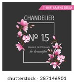floral graphic design   for t... | Shutterstock .eps vector #287146901