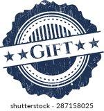 gift grunge seal | Shutterstock .eps vector #287158025