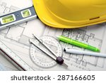 tools to design new homes   Shutterstock . vector #287166605